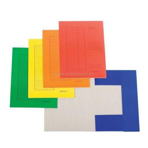 Pólyás dosszié A4, mázolt karton, több színben