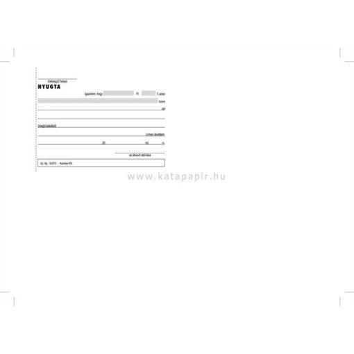 Átvételi elismervény A/6 B.13-67/V 50x3 lapos