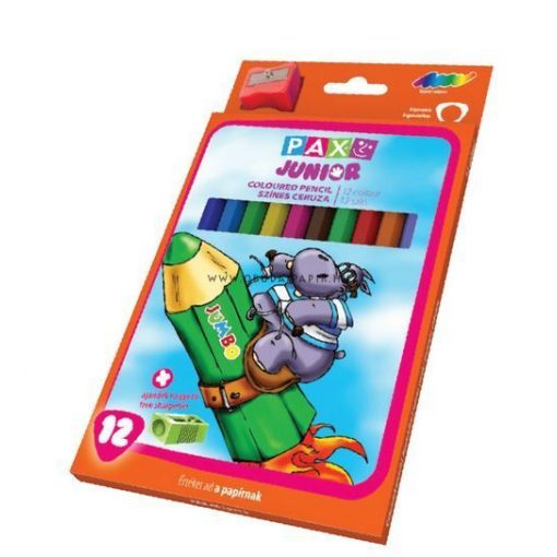 PAX színes ceruza 12 DB-OS DELTA (háromszög) 4010112