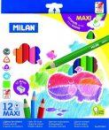 Milan 12-es maxi háromszögletű színes ceruza, 261