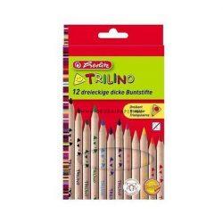 HERLITZ színes ceruza 12 DB-OS TRILINO NATUR VASTAG
