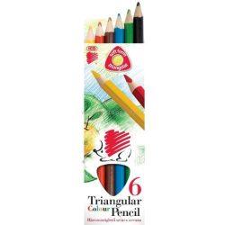 SÜNI színes ceruza 6 DB-OS HÁROMSZÖGLETŰ FESTETT JUMBO 7140133001