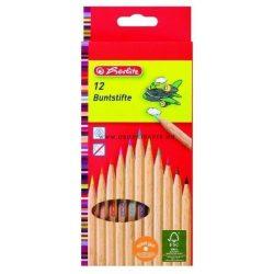 HERLITZ színes ceruza 12 DB-OS HATSZÖG NATÚR