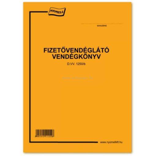 FIZETŐVENDÉGLÁTÓ VENDÉGKÖNYV, 16 OLDAL+BORÍTÓ, B/5 D.VV.1250/B