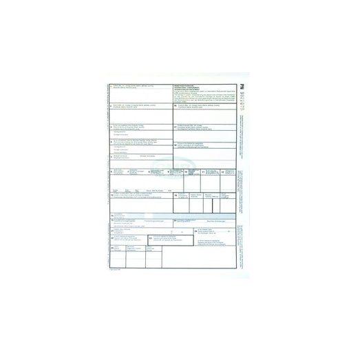 CMR nemzetközi fuvarlevél A/4 4 példányos, álló, vegykezelt papír