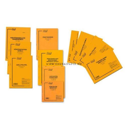 Napi pénztárjelentés A/4, álló 25*2 példányos B.13-26/V