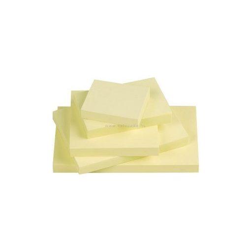 Öntapadó jegyzettömb 75x125mm, sárga, 100 lapos