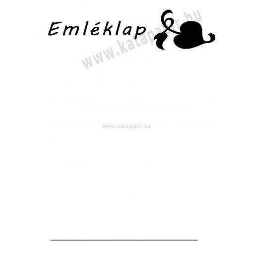 Emléklap 1, választható papír színnel
