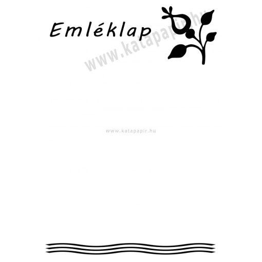 Emléklap 2, választható papír színnel