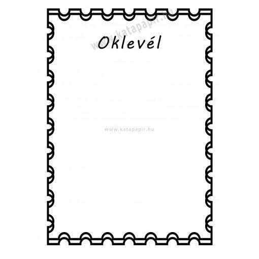 Oklevél 1, választható papír színnel