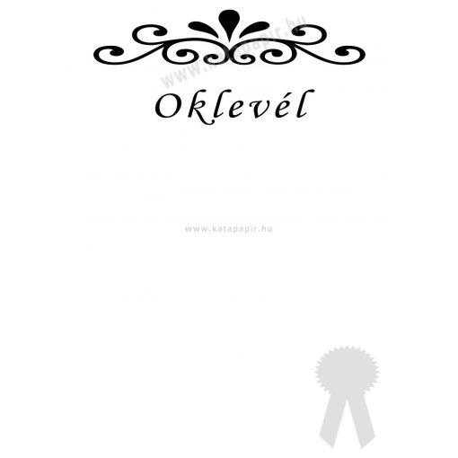 Oklevél 3, választható papír színnel