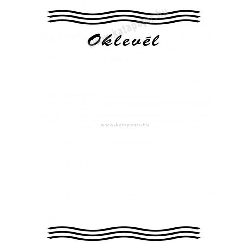Oklevél 4, választható papír színnel