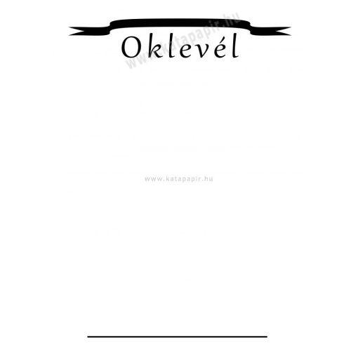 Oklevél 7, választható papír színnel