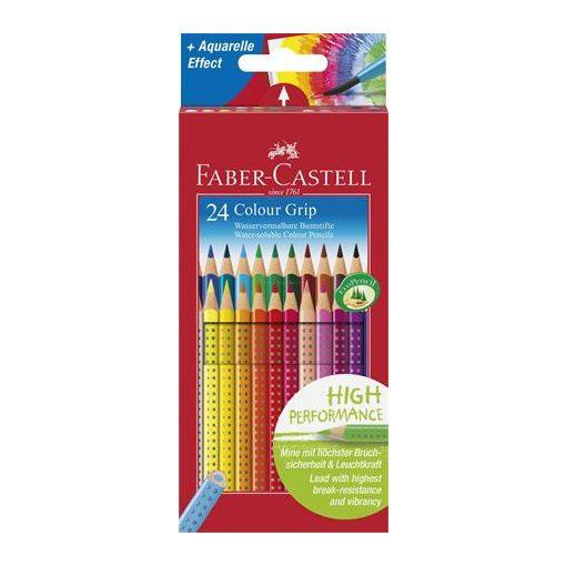 """Színes ceruza készlet, háromszögletű, FABER-CASTELL """"Grip 2001"""", 24 különböző szín"""